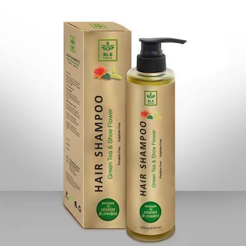 SBM HAIR SHAMPOO - Green tea & Shoe flower