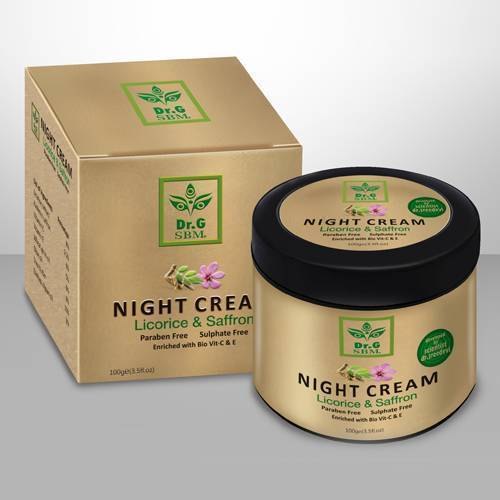 SBM NIGHT CREAM - Licorice & Saffron